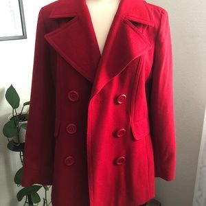 NY & Co. Heavy Red Pea Coat